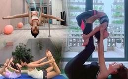 Tiểu công chúa nhà sao Việt tập yoga, uốn dẻo điêu luyện không thua mẹ
