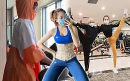 """Sao Việt tập gym hết mình vẫn trang bị """"ngộp thở"""""""