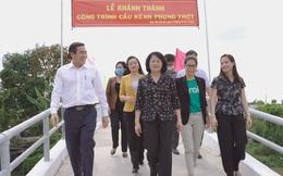 Khánh thành, bàn giao Cầu kênh Phụng Thớt (xã Hậu Mỹ Bắc B, huyện Cái Bè, Tiền Giang)