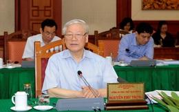 Từ 31/8 đến 5/9: Bộ Chính trị làm việc với 10 đảng bộ trực thuộc Trung ương