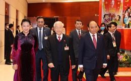 Hình ảnh đại biểu dự phiên trù bị, thông qua chương trình làm việc Đại hội XIII của Đảng