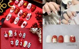 Gợi ý mẫu nails vừa đẹp vừa sang hợp với Tết Tân Sửu 2021
