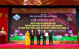 BV TƯ Thái Nguyên được xếp hạng đặc biệt