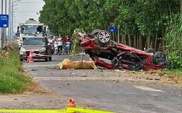 Ô tô con biến dạng sau va chạm với xe tải, 3 người tử vong