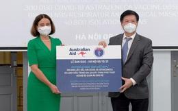 Australia hỗ trợ thêm 300.000 liều vaccine ngừa Covid-19 và thiết bị y tế