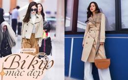 Học sao nữ cách diện áo trench coat tôn dáng và thanh lịch