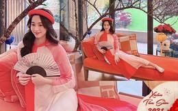 Thả dáng với áo dài, mẹ 2 con Đặng Thu Thảo đẹp rực rỡ giữa hoa lá mùa Xuân