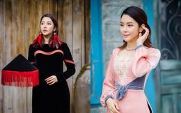 Á hậu, diễn viên Yan My kiêu sa với áo dài nhung cách tân
