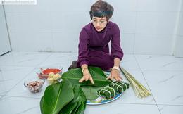 Tết vui của những bà mẹ công sở: Hào hứng gói bánh chưng
