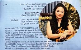 Công an thụ lý đơn của bà Nguyễn Phương Hằng tố giác ông Võ Hoàng Yên