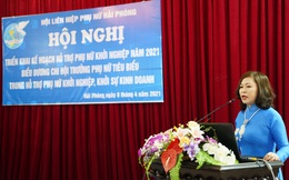 Biểu dương chi hội trưởng, tổ trưởng phụ nữ tiêu biểu trong hỗ trợ phụ nữ khởi nghiệp ở Hải Phòng