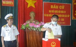 Bà Rịa-Vũng Tàu hoàn thành công tác bầu cử sớm trên biển