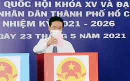 Thường trực Ban Bí thư Võ Văn Thưởng đi bầu cử tại TPHCM