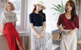 5 kiểu chân váy cứ diện cùng áo phông là đẹp mê