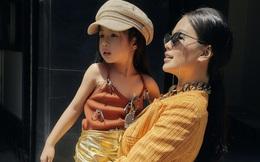 Á hậu Diễm Trang khoe street style khác lạ bên con gái