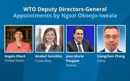 Lần đầu tiên một nửa số ghế Phó Tổng giám đốc WTO thuộc về nữ giới