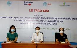 6 phụ nữ khu vực đồng bằng sông Cửu Long được trao giải sáng tạo vì môi trường