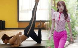 Nhã Phương tung ảnh tập yoga tại nhà, body không còn gầy trơ xương