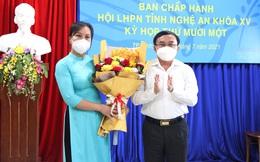 Bà Hoàng Thị Thanh Minh được bầu làm Phó Chủ tịch Hội LHPN tỉnh Nghệ An