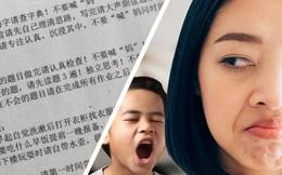 """1 phụ nữ Trung Quốc ký hiệp ước """"đừng hỏi mẹ"""" với con trai 7 tuổi"""