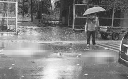 Hà Nội: Va chạm xe tải trong cơn mưa lớn, đôi nam nữ đi xe máy tử vong