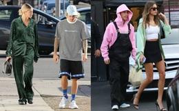 """Style của vợ chồng Justin Bieber lắm lúc trông như """"hai mẹ con"""" đang dạo phố"""