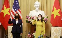 Phó Chủ tịch nước Võ Thị Ánh Xuân tiếp Phó Tổng thống Mỹ Kamala Harris
