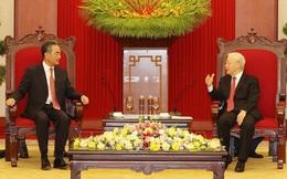 Các nhà lãnh đạo Việt Nam tiếp Ủy viên Quốc vụ, Bộ trưởng Ngoại giao Trung Quốc