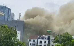Cháy nhà kho khu cách ly F1 ở khách sạn Vinh Plaza