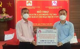 Tặng 1.000 suất quà cho lao động tự do gặp khó khăn do dịch Covid-19 trên địa bàn Hà Nội