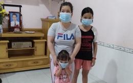 Hai cháu nhỏ có nguy cơ không được đi học khi mẹ bị mù và bố mất vì Covid-19