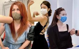 """Sao Việt đi tiêm vaccine: MC """"bọc"""" kín mít, hoa hậu, diễn viên đơn giản, thoải mái"""