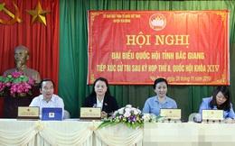 ĐBQH Nguyễn Thị Thu Hà tiếp xúc cử tri tại Bắc Giang