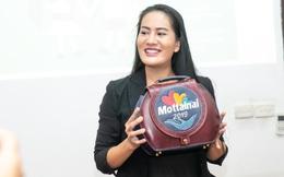 Cận cảnh chiếc túi da handmade diễn viên Minh Cúc làm tặng Mottainai