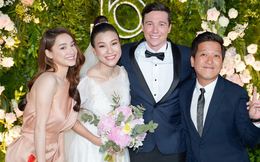 Vợ chồng Nhã Phương - Trường Giang cùng dàn sao Vbiz dự đám cưới Á hậu Hoàng Oanh