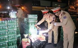 Hà Tĩnh: Bắt giữ 2 xe khách vận chuyển hàng bia, rượu nhập lậu
