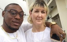 Bỏ qua dị nghị, chàng trai châu Phi kết hôn với người phụ nữ da trắng hơn 30 tuổi