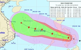 Công điện hỏa tốc ứng phó bão PHANFONE giật cấp 13 đi vào biển Đông