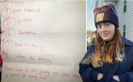 Cảm động cậu bé viết thư cho ông già Noelmong muốn nhận được thức ăn và quần áo cho gia đình