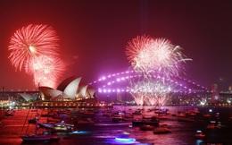 Pháo hoa rực rỡ trên Cầu cảng Sydney