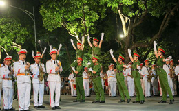 Đoàn nghi lễ Công an nhân dân biểu diễn tại Ngày hội Mottainai 2019
