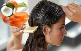 Làm dầu xả cà rốt và nước cốt dừa ngăn ngừa tóc rụng