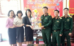 Hội LHPN Quảng Ngãi thăm, chúc Tết các đơn vị vũ trang