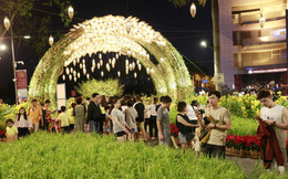 Hội chợ hoa xuân Phú Mỹ Hưng 2020 thu hút khách tham quan, chụp ảnh
