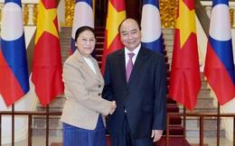 Thủ tướng tiếp Chủ tịch Quốc hội Lào