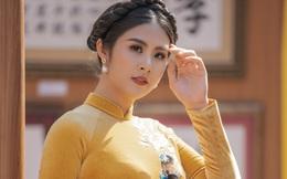 Hoa hậu Ngọc Hân đa sắc trong áo dài nhung