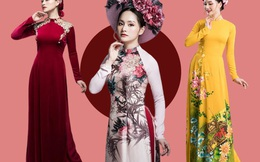 Hết Tết, Lan Phương vẫn chuộng diện áo dài khoe dáng