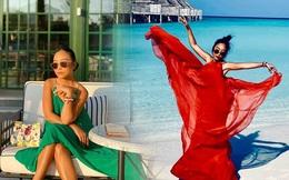 Học Đoan Trang diện váy lụa màu sắc, chị em sẽ luôn ngọt ngào và bay bổng