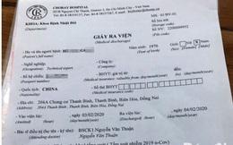 Bệnh nhân người Trung Quốc tạm trú ở Đồng Nai nhập viện Chợ Rẫy nghi nhiễm nCoV đã được xuất viện