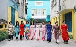 Kết nối yêu thương trong sắc màu áo dài của cán bộ TƯ Hội LHPN Việt Nam